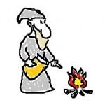 Пастор сжигает книгу